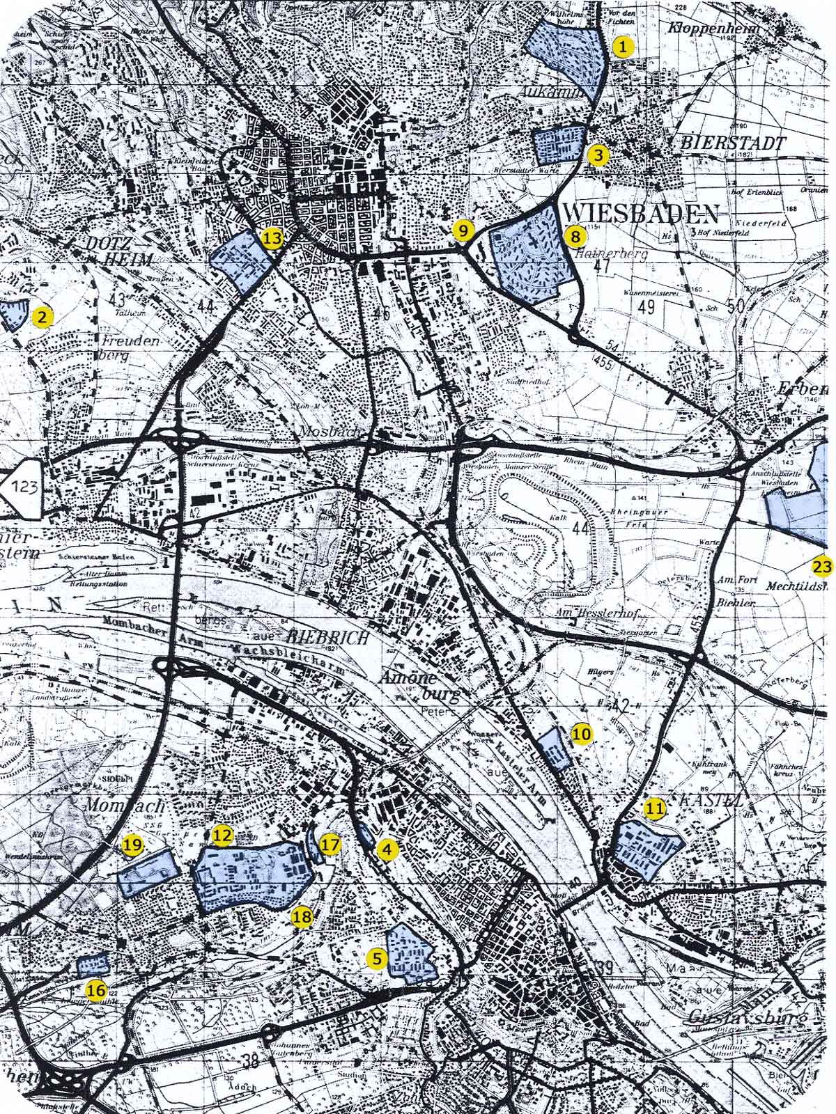 Wiesbaden Air Base West Germany Assorted Sources - Us military bases in germany map