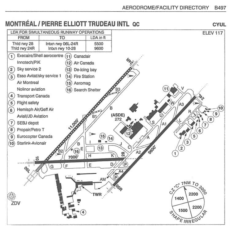 Dorval qc aerodrome facility diagram for dorval quebec 5 august 2004 ccuart Gallery